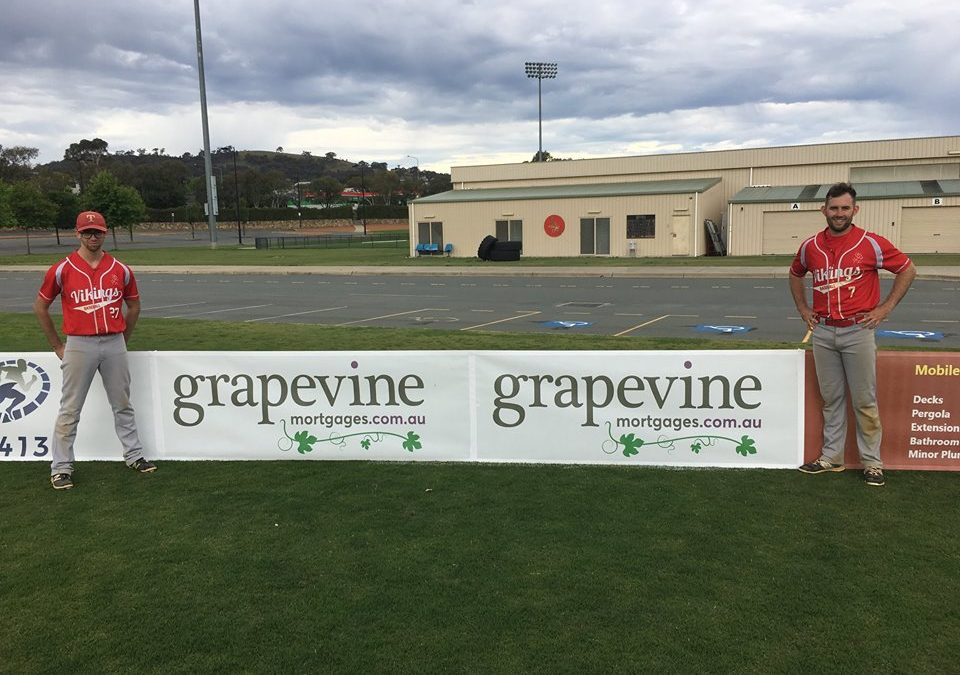 Grapevine Mortgages proudly sponsors the Tuggeranong Vikings Baseball Club.